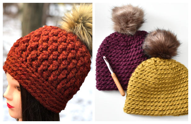 Chunky Beanie Hat Free Crochet PatternsChunky Beanie Hat Free Crochet Patterns