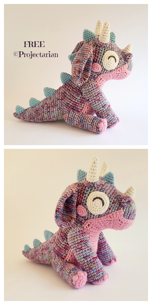 Crochet Orbit the Dragon Amigurumi Free Pattern