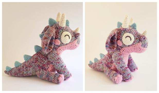 Crochet Orbit the Dragon Amigurumi Free Pattern