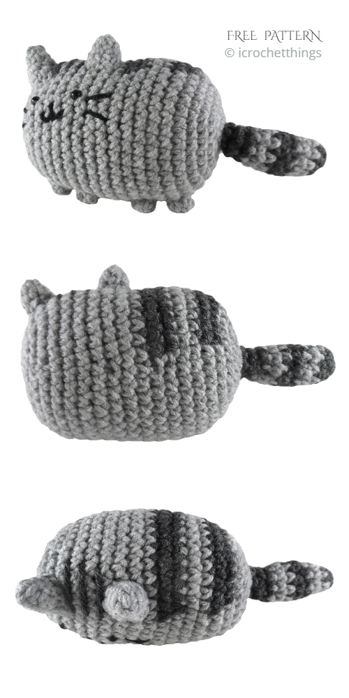 Crochet Pusheen Cat Amigurumi Free Patterns