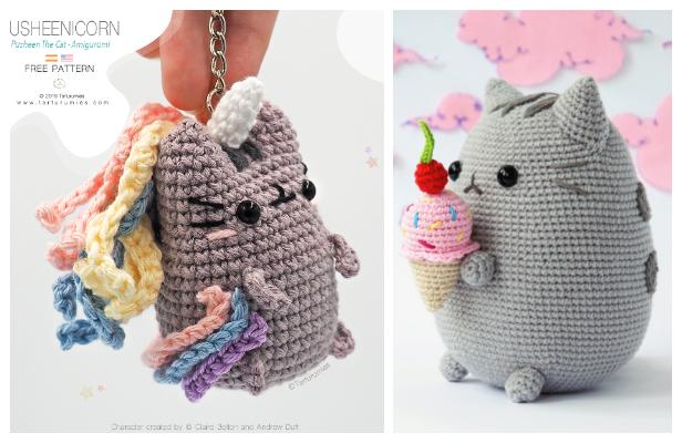 Crochet Pusheen Cat Amigurumi Free Patterns
