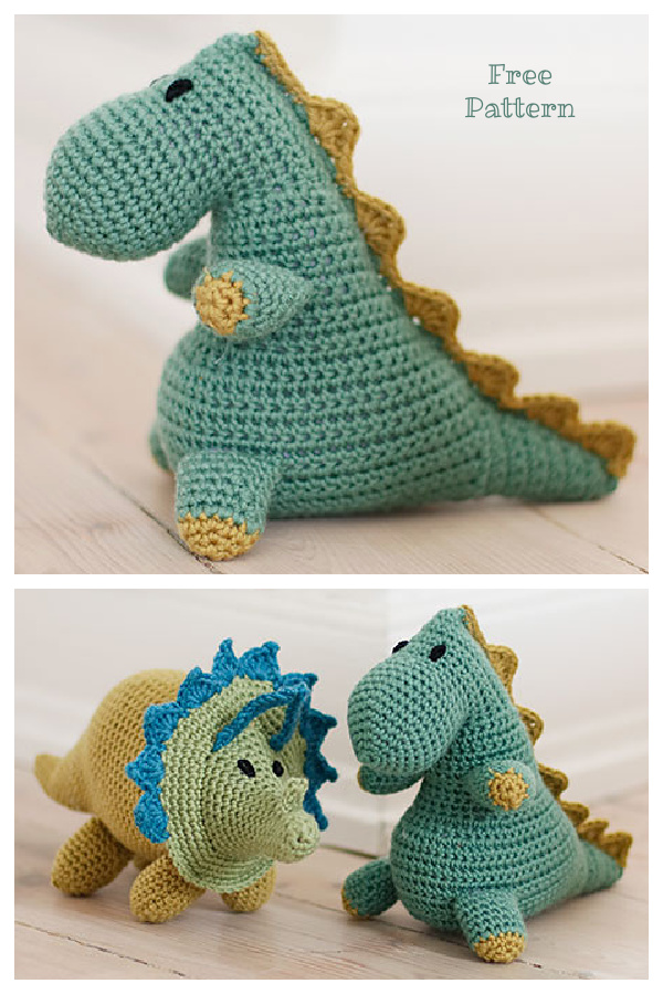 Crochet Bob the Dinosaur Amigurumi Free Patterns