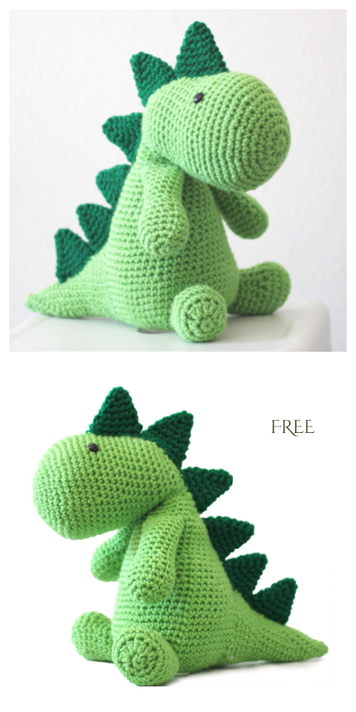 Crochet Squish Dinosaur Amigurumi Free Patterns