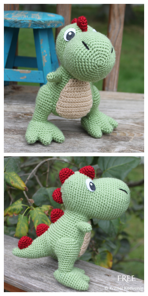 Crochet T-REX Dinosaur Amigurumi Free Patterns