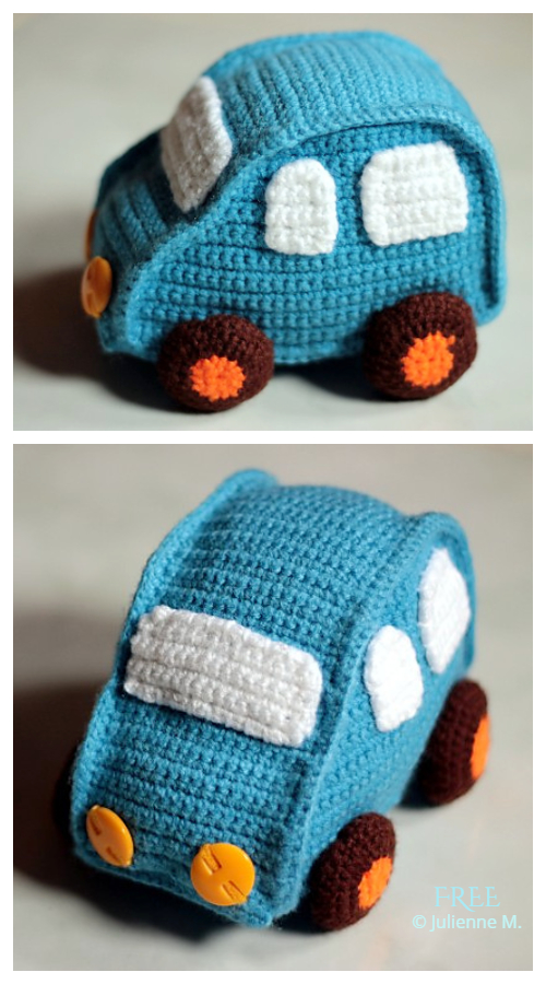 Crochet Toy Vehicle Amigurumi Free Patterns - Pickup Truck