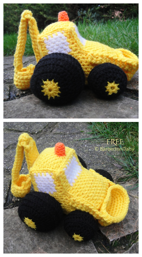 Crochet Toy Vehicle Amigurumi Free Patterns - Digger Loader