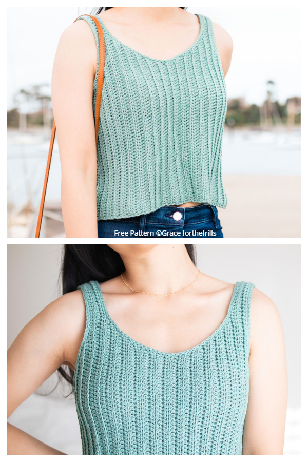 Easy Summer Tank Top Free Crochet Patterns