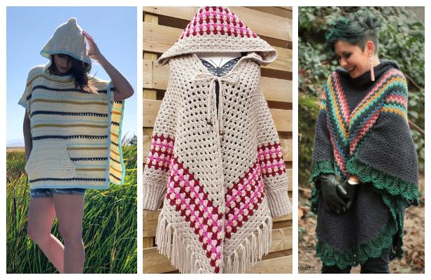 Hooded Poncho Crochet Patterns
