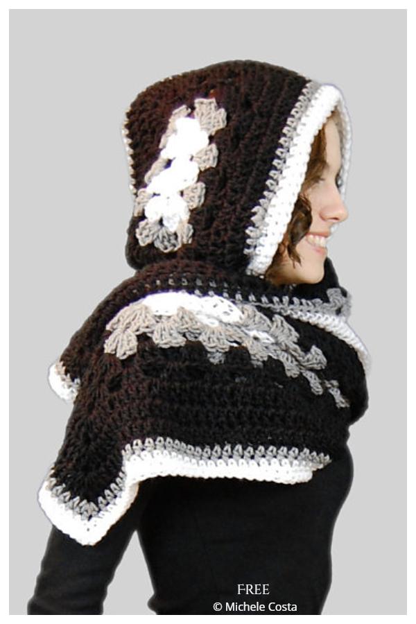 Ella Hoody Scarf Free Crochet Patterns