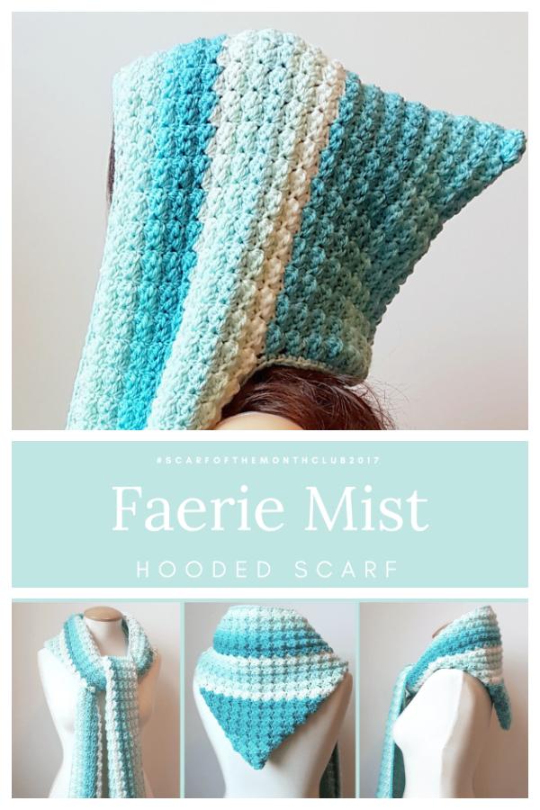 Faerie Mist Hooded Scarf Free Crochet Patterns