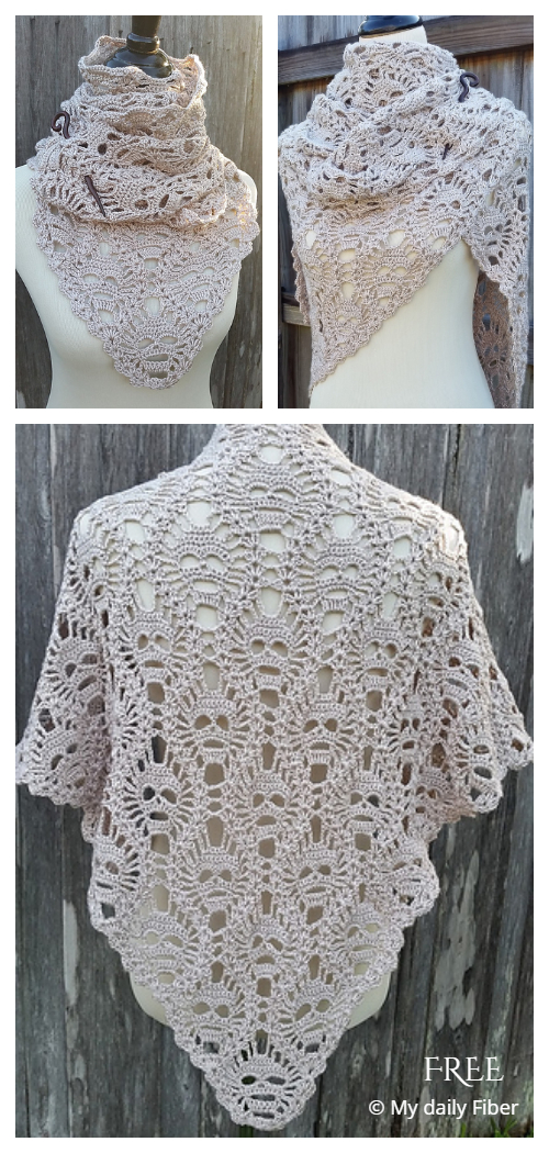 Lost Souls Skull Shawl Free Crochet Pattern + Video