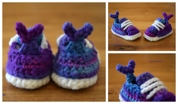Mermaid Tail Baby Sneaker Free Crochet Pattern