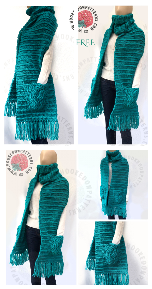 Super Chunky Textured Scarf Free Crochet Patterns