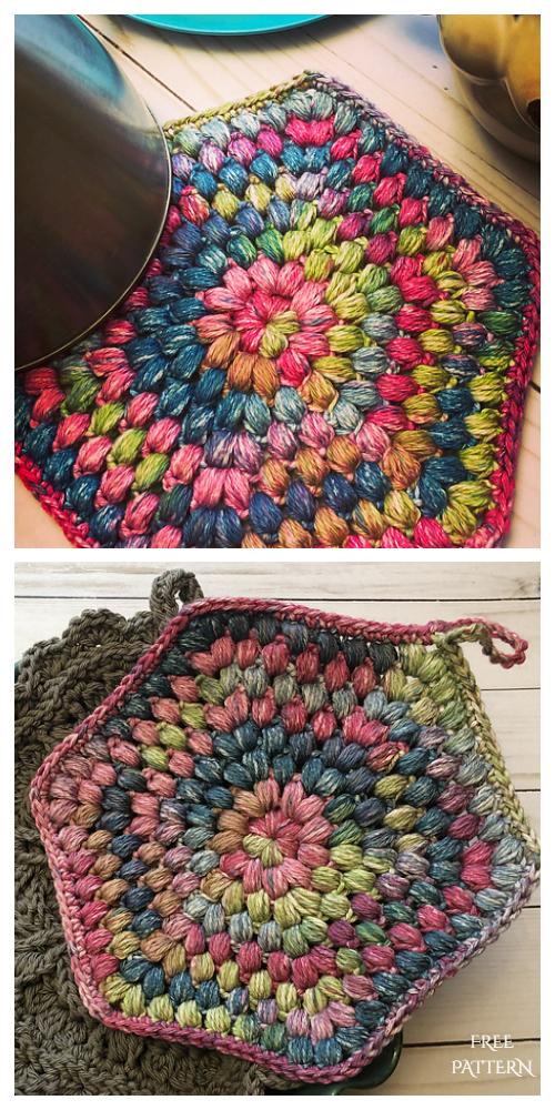 Puff Coaster Free Crochet Patterns