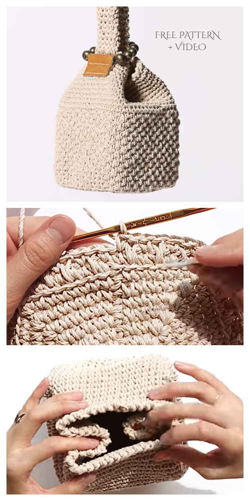 Solid Square bag Free Crochet Pattern + Video