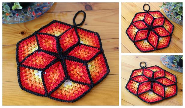 Star Pot Holder Crochet Patterns