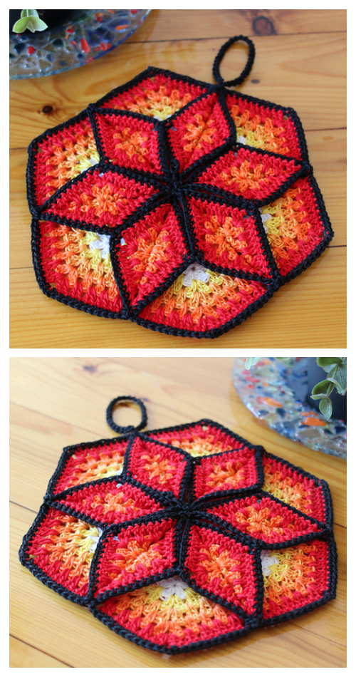 Lucky Star Pot Holder Crochet Patterns