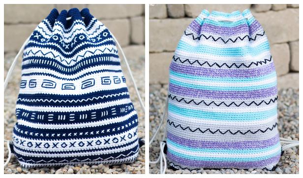 Summer Artistic Backpack Free Crochet Patterns