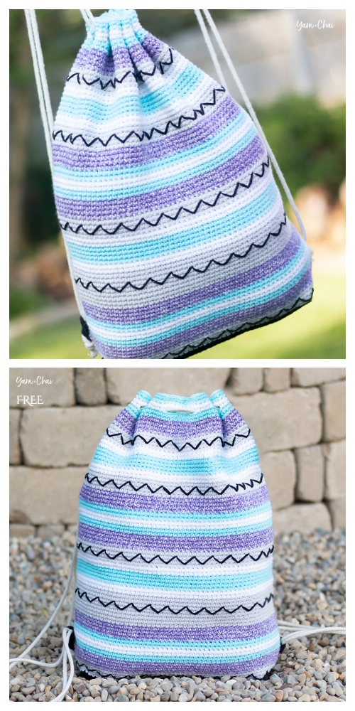Summer Artistic Backpack Free Crochet Patterns