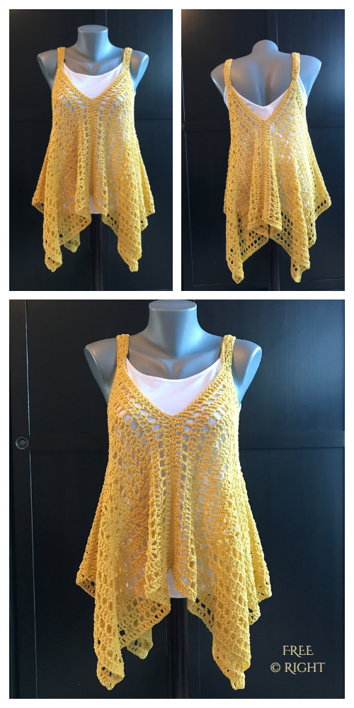 Summer Granny Square Tank Top Free Crochet Patterns