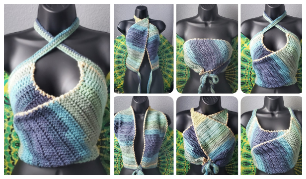 Tie Back Summer Top Free Crochet Patterns