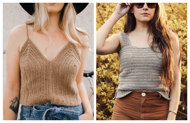 Easy Summer Tank Top Free Crochet Patterns & Paid