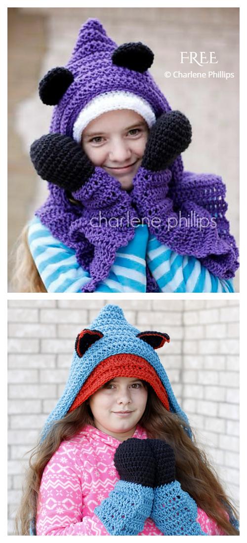 Hooded Bear Scarf Free Crochet Patterns