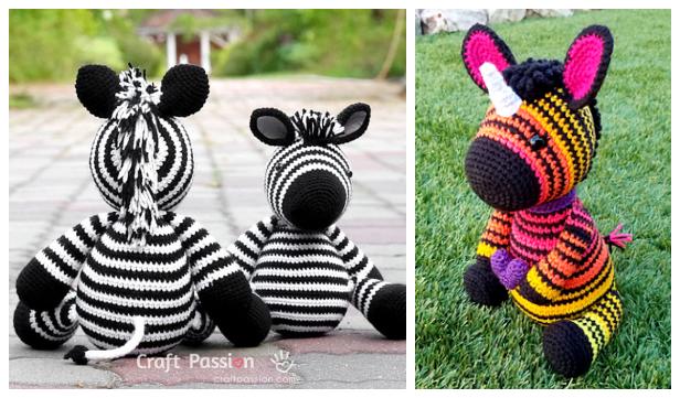 Amigurumi Zebra Free Crochet Patterns