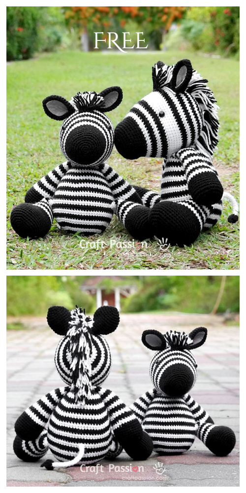 Amigurumi Zebra Free Crochet Patterns