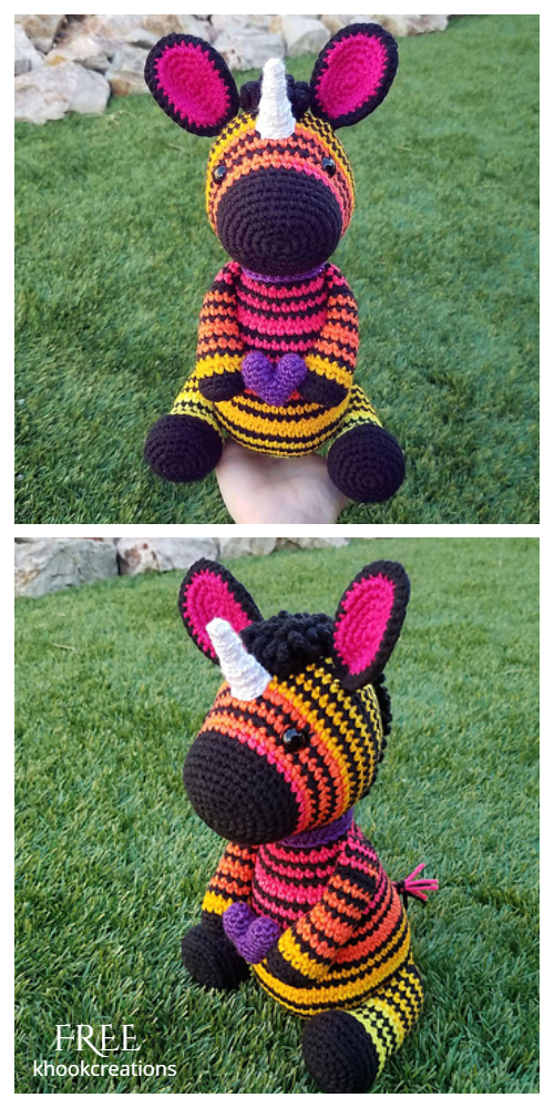 Amigurumi Zebra Unicorn Free Crochet Patterns