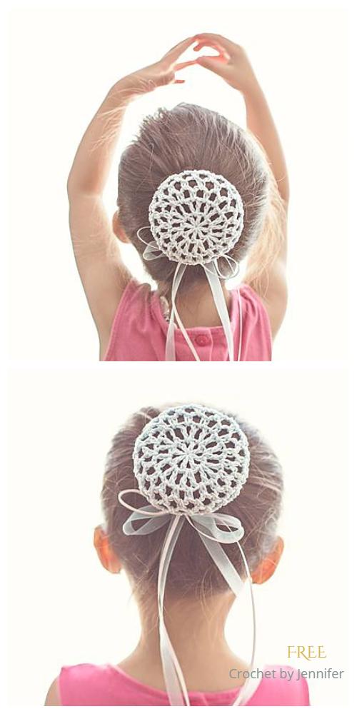 Ballerina Bun Cover Free Crochet Pattern