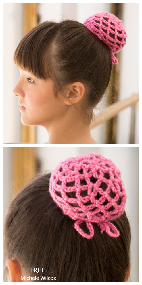 Quick Ballerina Bun Cover Free Crochet Patterns