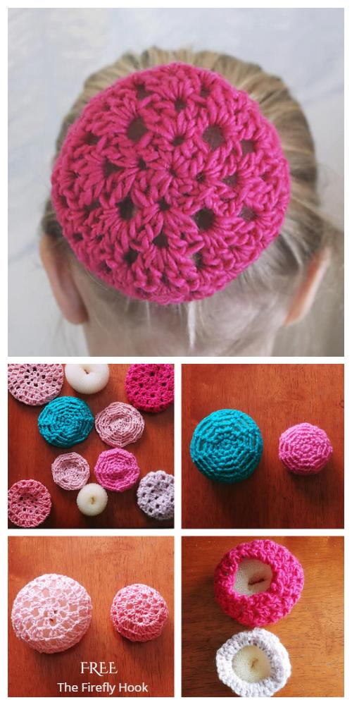 Ballet Bun Cover Free Crochet Patterns - 2 patterns