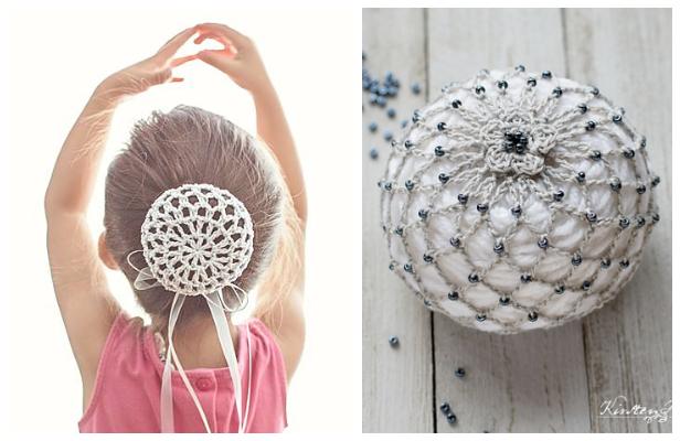 Ballerina Bun Cover Free Crochet Patterns