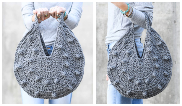 Bobble Circle Bag Free Crochet Patterns