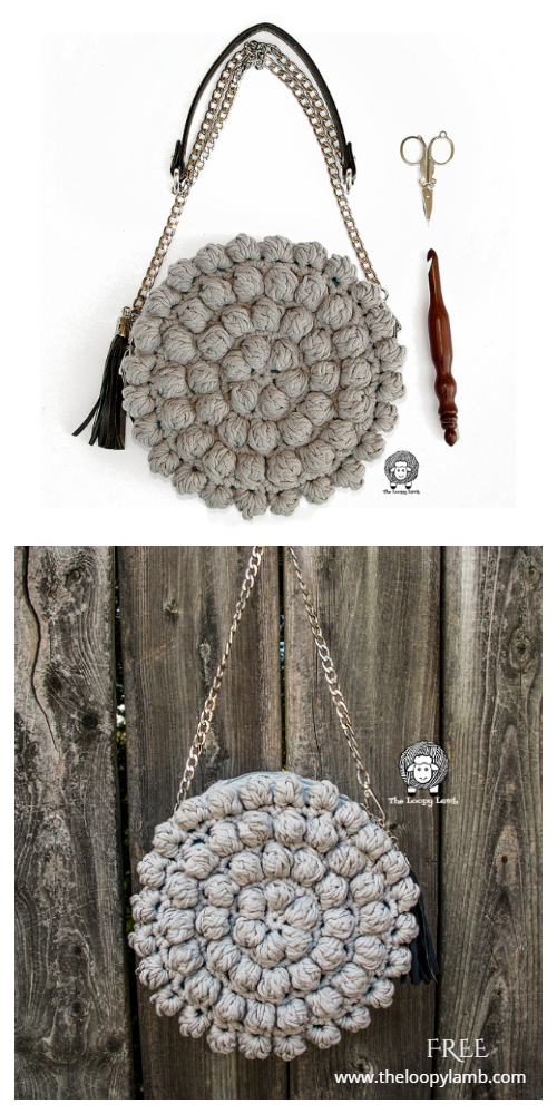 The Bobblelicious Bag Free Crochet Patterns