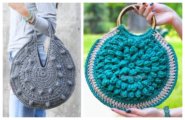 Bobble Circle Bag Free Crochet Patterns