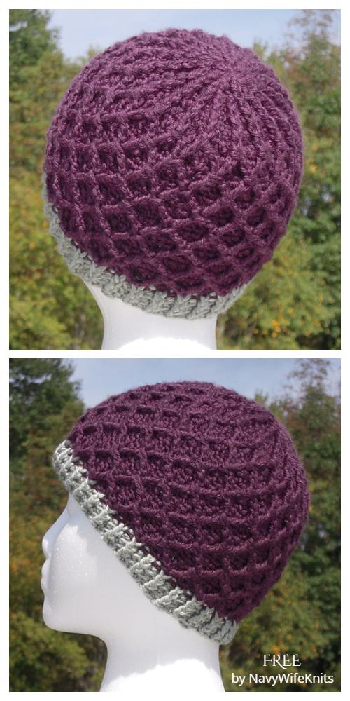 Diamond Hat Free Crochet Patterns