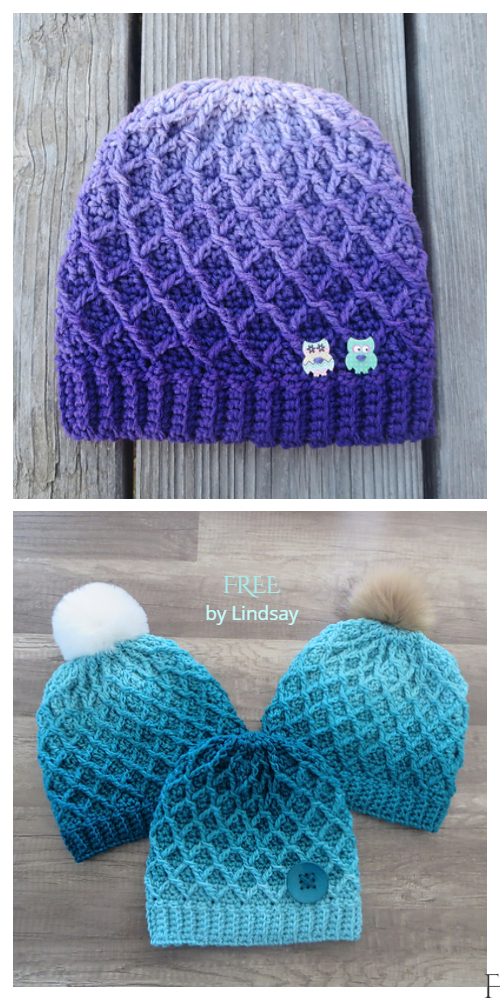 Diamond Hat Free Crochet Patterns