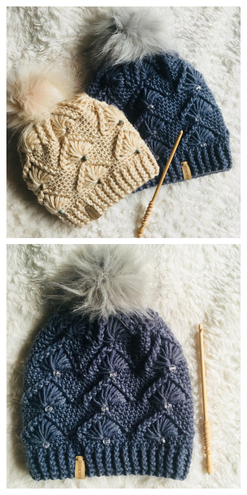 Diamonds and Pearls Hat Crochet Patterns