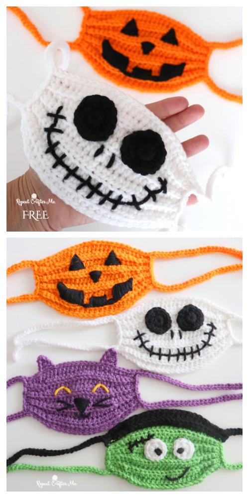 Halloween Face Mask Free Crochet Pattern