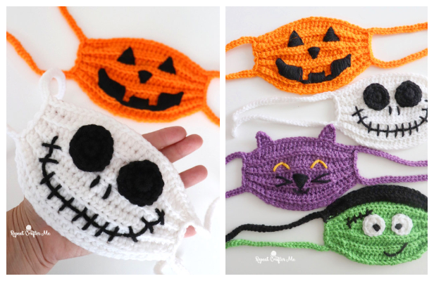 Halloween Face Mask Free Crochet Pattern