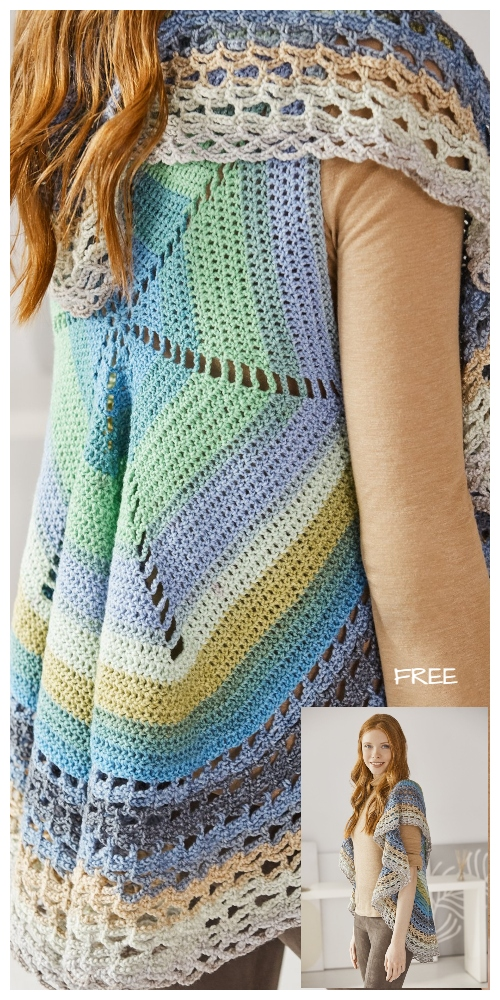 Flair Circle Vest Free Crochet Pattern