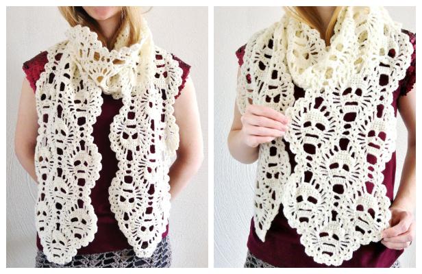 Lost Souls Skull Scarf Free Crochet Pattern