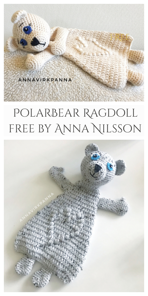 Ragdoll Polar Bear Free Crochet Patterns
