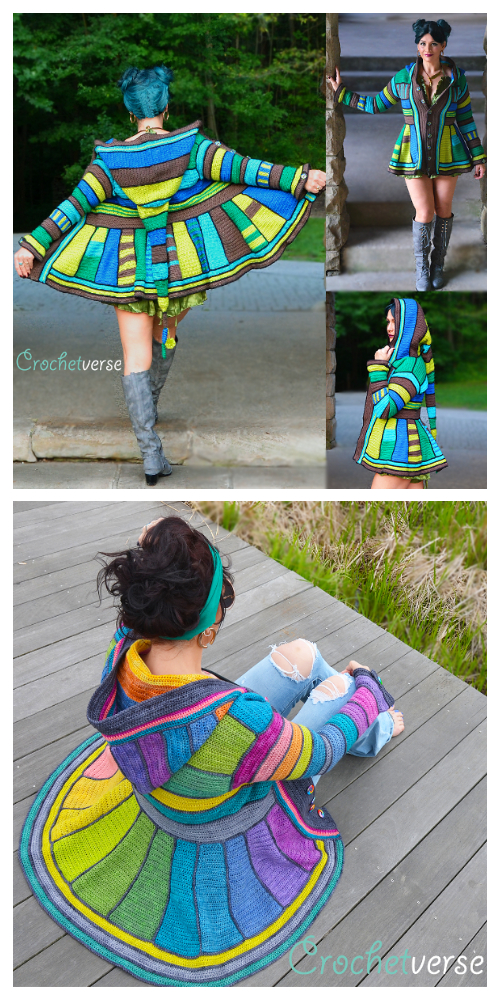 Rainbow Dream Coat Crochet Pattern