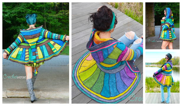Rainbow Dream Coat Crochet Pattern