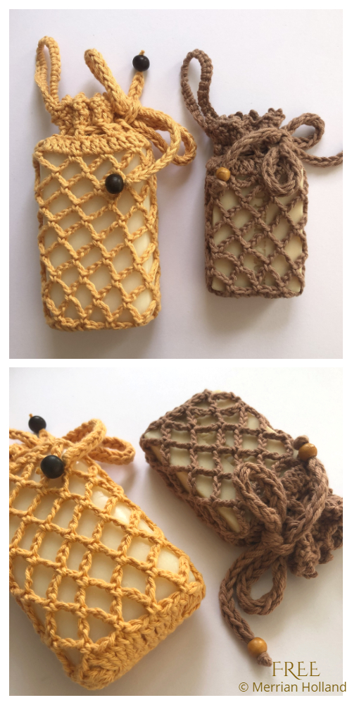Mesh Soap Bag Saver Free Crochet Patterns