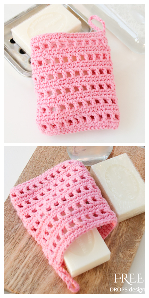 Leaf Soap Saver Free Crochet Patterns