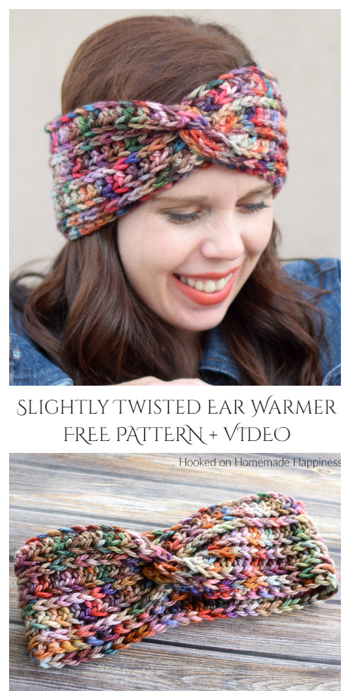 Slightly Twisted Ear Warmer Free Crochet Pattern + Video